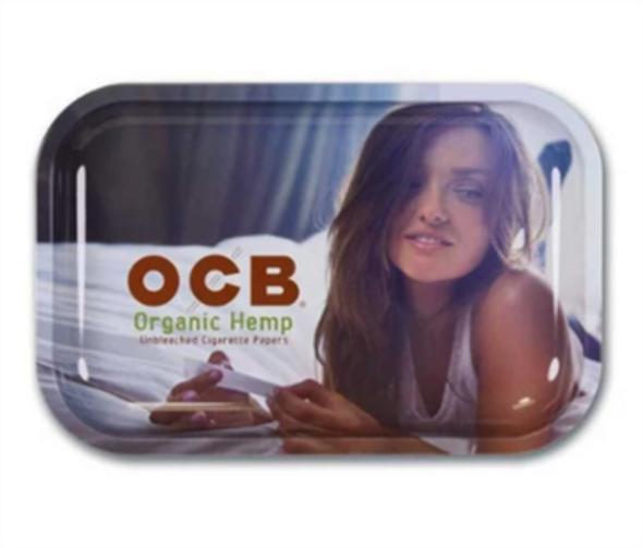"OCB Organic Hemp Metal Rolling Tray 7.5"" x 11"""