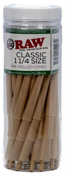 RAW Cone Classic 1 1/4 Size 50ct Retail Canister