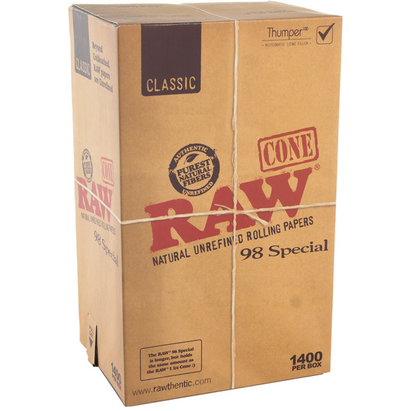 RAW Pre-Rolled Cones 98 Special 1400 ct.
