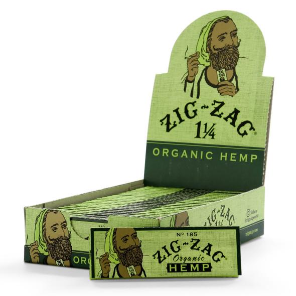 "Zig Zag Organic Hemp Rolling Papers 1¼"" Size - 24 ct."