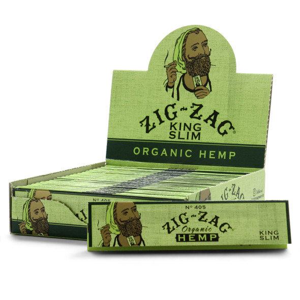 Zig Zag Organic Hemp King Size Rolling Papers  24 ct.