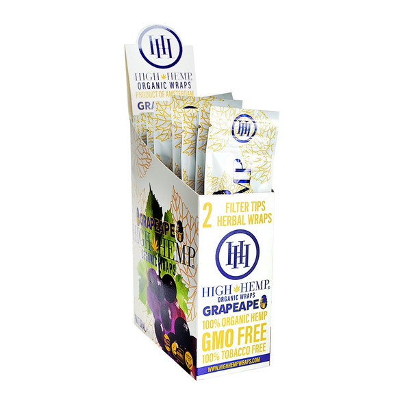 High Hemp Wraps - 25 Packs Per Box, 2 Wraps Per Pack