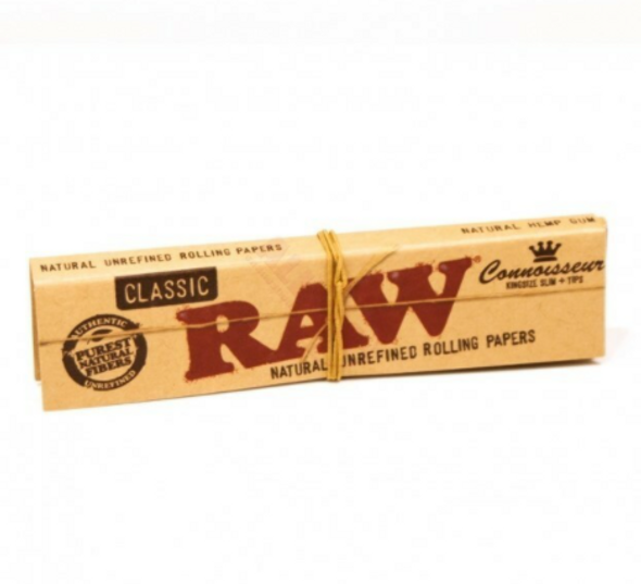 RAW Connoisseur Rolling Papers with Tips King Size - 24 ct.