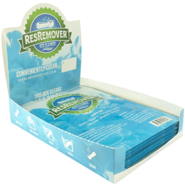 ResRemover Pipe Cleaner | Makes 16fl.oz. (474ml) Per Cleaning Pouch | 12 ct. Display Box | Just Add Water