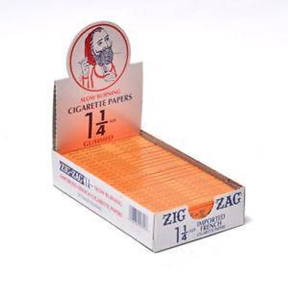"Zig Zag Orange 1 1/4"" Size Rolling Papers"