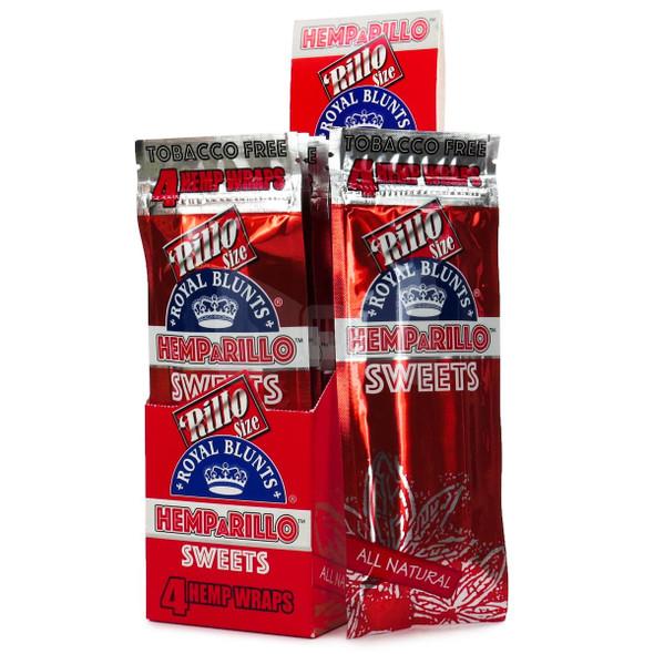 Royal Blunts Hemparillo Hemp Wraps - 15 Packs Per Box, 4 Wraps Per Pack