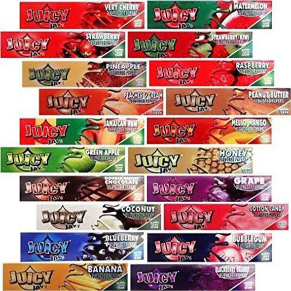 """Juicy Jay's Flavored Rolling Papers 1¼"""" Size - 24 ct."""