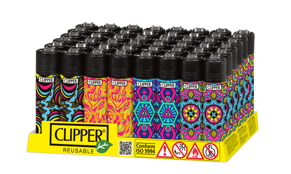 Clipper Lighter Rotational Psychedelic Display