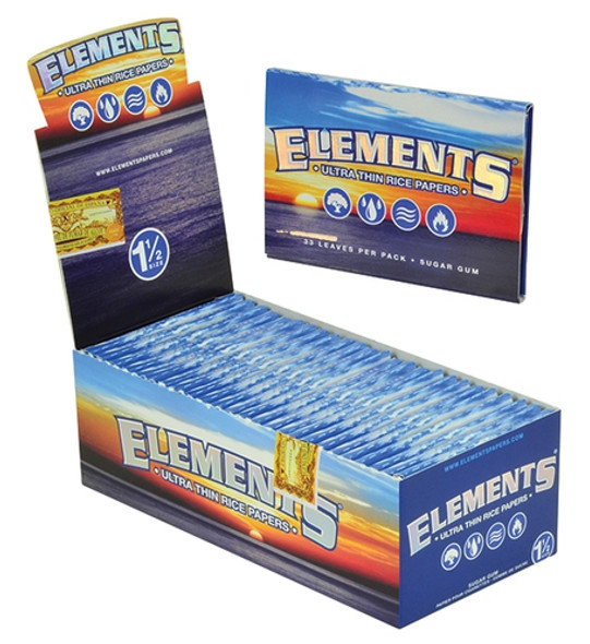 "Elements Ultra Rice Paper 1 1/2"" Size 25 ct."