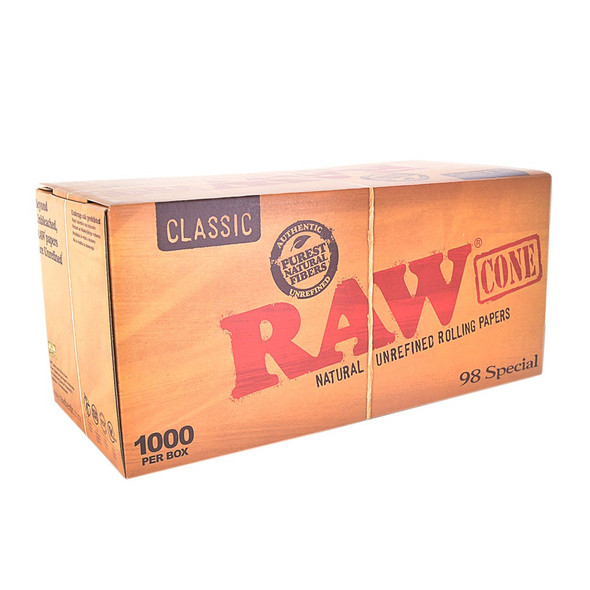 RAW Classic Bulk Pre-Rolled Cones 98 Special 1000 ct.