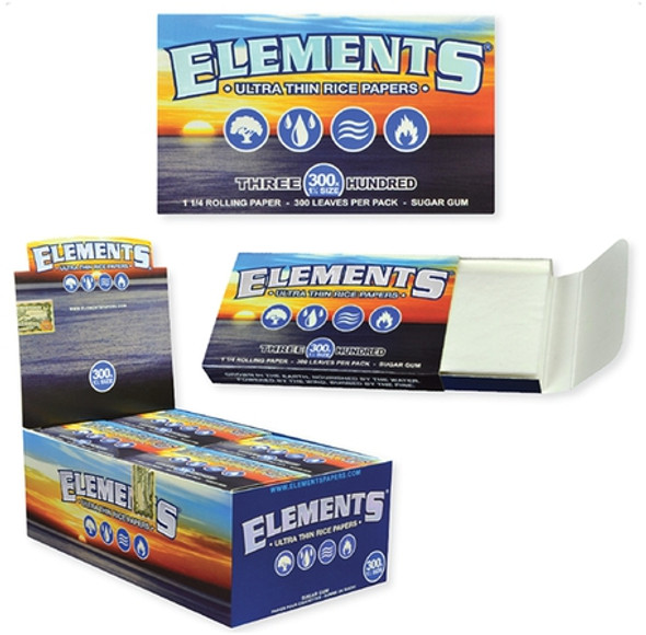 "Elements Rolling Papers 300pk 1¼"" Size - 20 ct."
