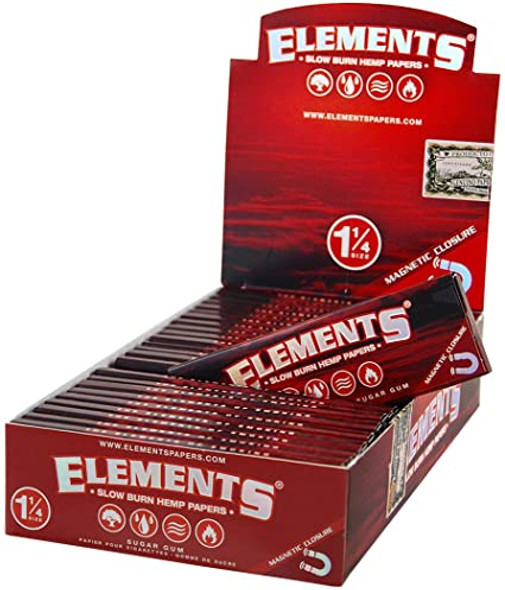 "Elements Red Hemp Paper 1 1/4"" Size 25 ct."