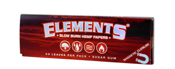 "Elements Red Hemp Rolling Papers 1¼"" Size - 25 ct."