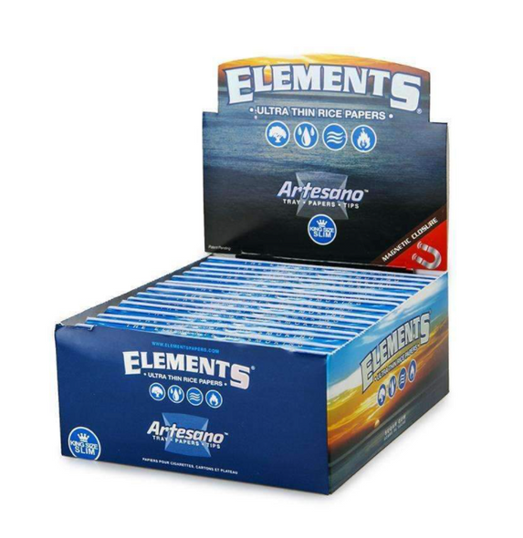 Elements Artesano King Size Rolling Papers with Tips 15 ct.