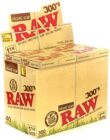 "RAW Organic Hemp Rolling Papers 300pk 1¼"" Size - 40 ct."
