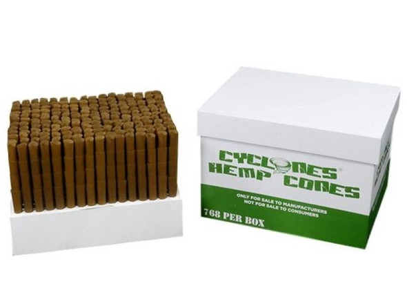 Cyclones Bulk XtraSlow Natural Hemp Pre-Rolled Cones 768 ct.