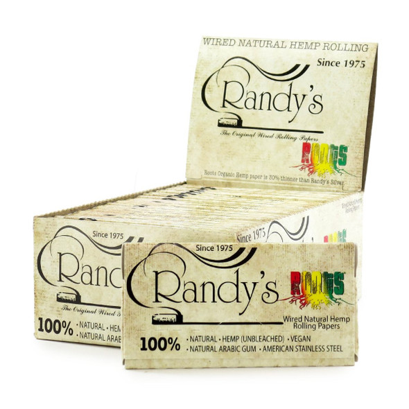"""Randy's Roots Wired Hemp Rolling Papers 1¼"""" Size - 25 ct."""