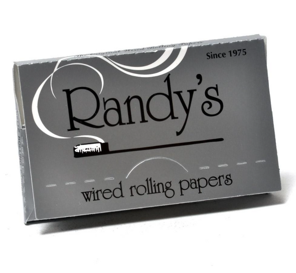 """Randy's Silver Wired Rolling Papers 1¼"""" Size - 25 ct."""