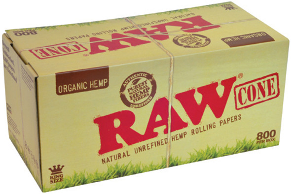 RAW Organic Hemp Bulk Pre-Rolled Cones King Size - 800 ct.