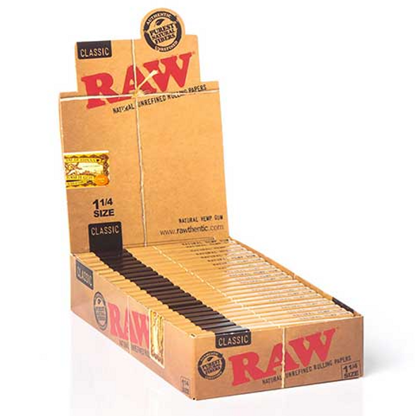 "RAW Classic Rolling Papers 1¼"" Size - 24 ct."