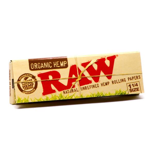 "RAW Organic Hemp Rolling Papers 1¼"" Size - 24 ct."