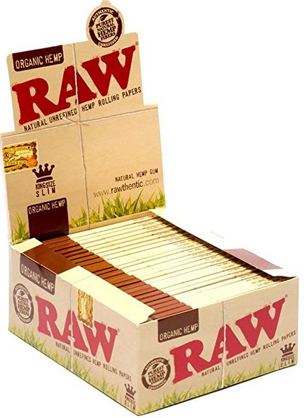 RAW Organic Hemp Rolling Papers King Slim - 50 ct.