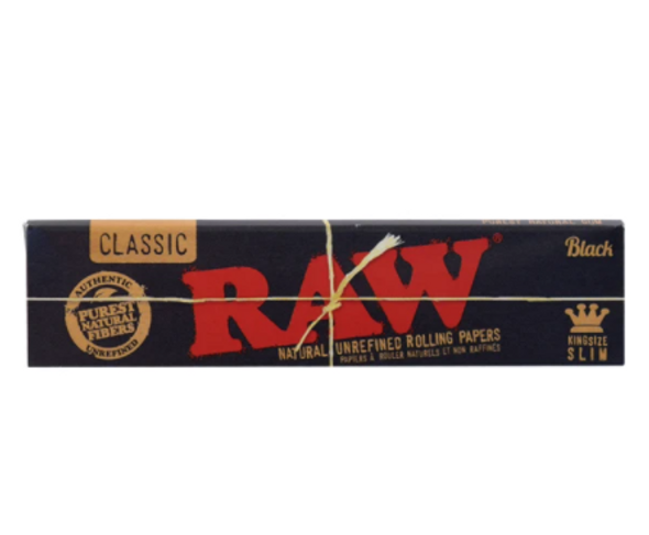 RAW Black Rolling Papers King Slim - 50 ct.