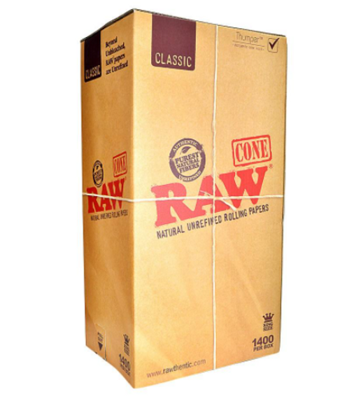 RAW Classic Bulk Pre-Rolled Cones King Size - 1400 ct.