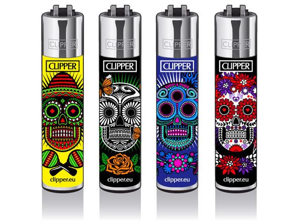 Clipper Lighter New Rotational Skulls 5