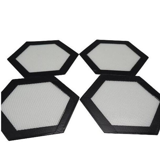 """Silicone Non Stick Dab Mat 5"""" Hexagon"""