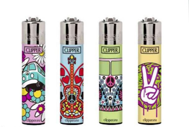 Clipper Lighter Rotational Design Hippie 3 48 ct.