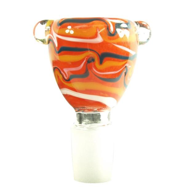 Swirling Paint Glass Slide Bowl