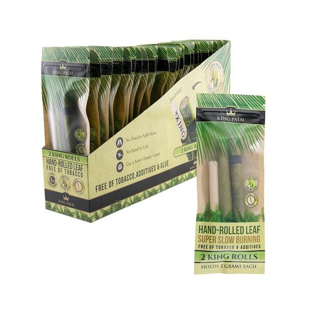 King Palm King Size Pouch - 24 Packs Per Box, 2 Wraps Per Pack