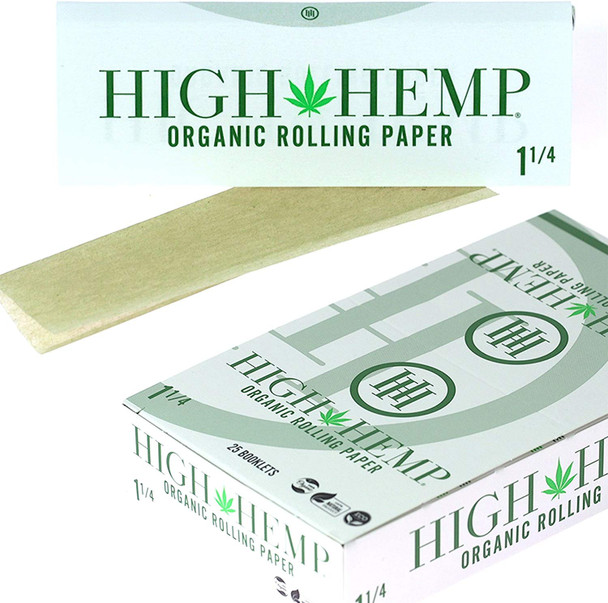 """High Hemp Rolling Papers 1¼"""" Size - 25 ct."""