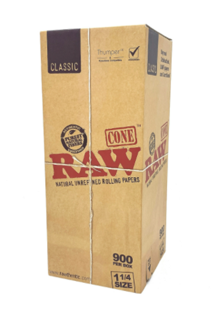 """RAW Classic Bulk Pre-Rolled Cones 1¼"""" Size - 900 ct."""