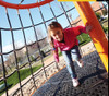 Spin around on this awesome rotating climber!