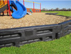 "12"" tall x 4' long x 4"" wide Playground timber with steel spike."