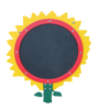 The Sunflower with yellow petals and red trim