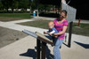 Even little ones can figure out how to play our outdoor music instruments