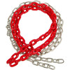 Red plastic coated swing chain Pair
