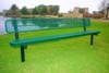 example rectangular bench inground mount expanded metal