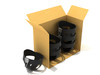 Infant bucket seat can come in 6 cont boxes for easy bulk purchasing