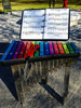 Percussion Play offers music books for players to simply follow colored notes that correspond with the notes on the Capella
