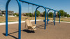 "Swing Frame is constructed from 5"" steel and feature an 8' height."