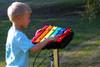 The Rainbow Metallophone with Inground Mount