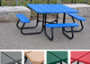 Square Picnic Table with Color Slats