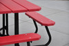Square Picnic Table in Red