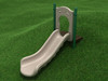 3' Single Straight Slide with Tan plastic and Rainforest Green posts
