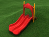 3' Double Straight Slide with Primary Red plastic and Sunglow Yellow posts