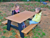 Watch as your kids interact with each other at the Kids Table!